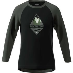 Zimtstern PureFlowz T-shirt manches 3/4 Homme, pirate black/gun metal/fog green